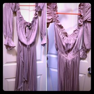 Lavender off the shoulder High-low dress💜